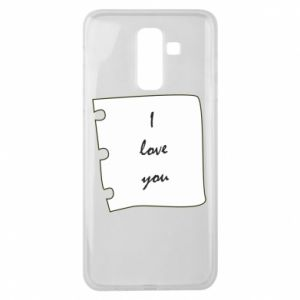 Samsung J8 2018 Case I love you