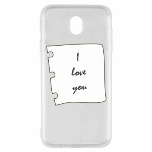 Samsung J7 2017 Case I love you