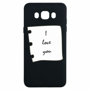Samsung J7 2016 Case I love you