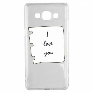 Samsung A5 2015 Case I love you