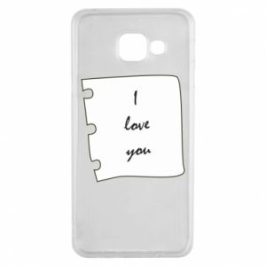 Samsung A3 2016 Case I love you
