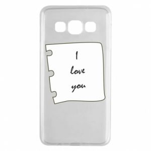 Samsung A3 2015 Case I love you