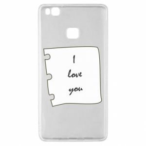 Huawei P9 Lite Case I love you