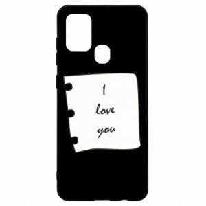 Samsung A21s Case I love you