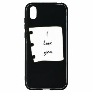 Huawei Y5 2019 Case I love you