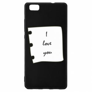 Huawei P8 Lite Case I love you