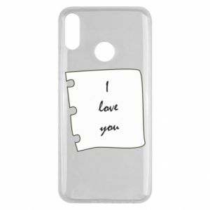 Huawei Y9 2019 Case I love you