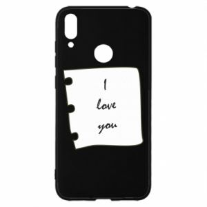 Huawei Y7 2019 Case I love you