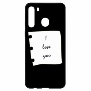 Samsung A21 Case I love you