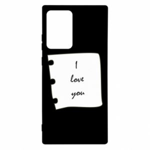 Samsung Note 20 Ultra Case I love you