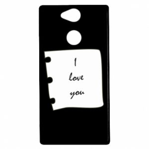Sony Xperia XA2 Case I love you