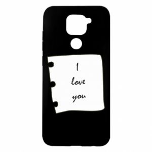 Xiaomi Redmi Note 9 / Redmi 10X case % print% I love you