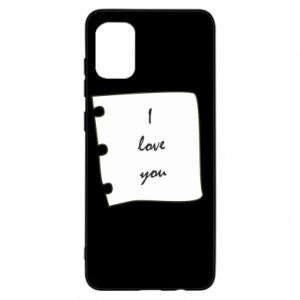 Samsung A31 Case I love you