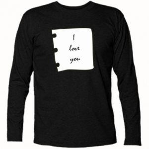 Koszulka z długim rękawem I love you - PrintSalon