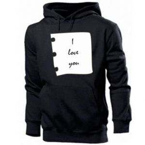 Men's hoodie I love you