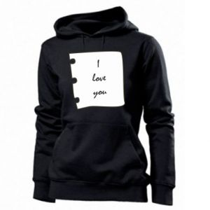 Women's hoodies I love you