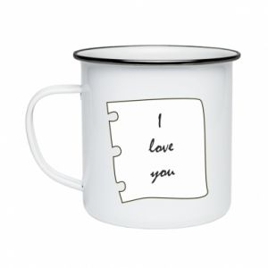 Enameled mug I love you