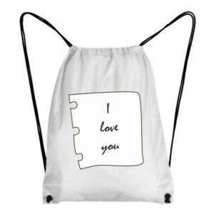 Backpack-bag I love you