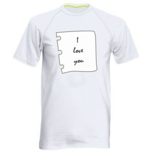 Men's sports t-shirt I love you