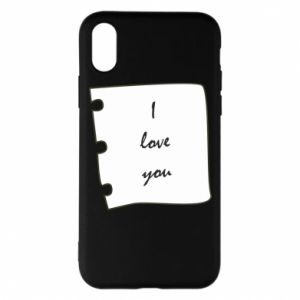 iPhone X/Xs Case I love you