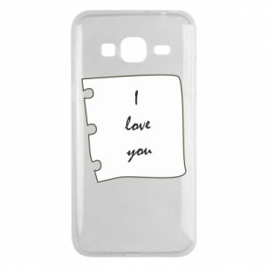 Samsung J3 2016 Case I love you