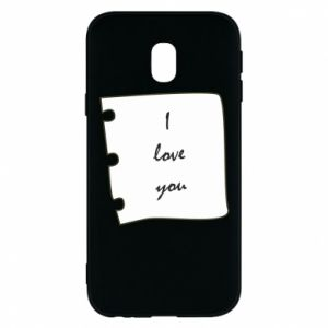 Samsung J3 2017 Case I love you
