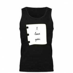 Męska koszulka I love you - PrintSalon