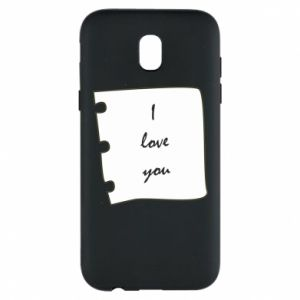 Samsung J5 2017 Case I love you