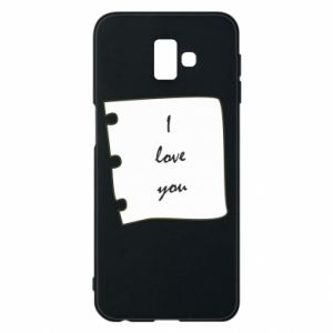 Samsung J6 Plus 2018 Case I love you