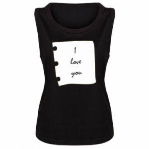 Damska koszulka I love you - PrintSalon