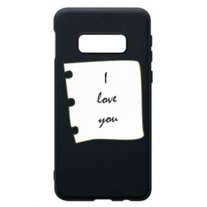 Samsung S10e Case I love you