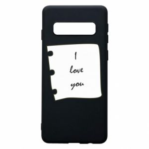 Samsung S10 Case I love you