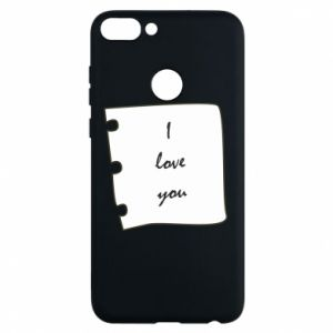 Phone case for Huawei P Smart I love you