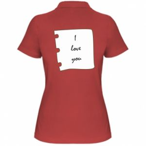 Women's Polo shirt I love you