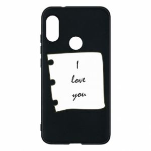 Mi A2 Lite Case I love you