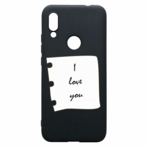Xiaomi Redmi 7 Case I love you