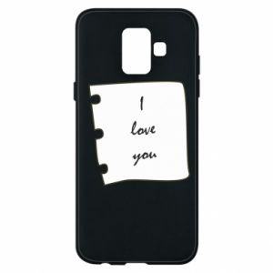 Samsung A6 2018 Case I love you