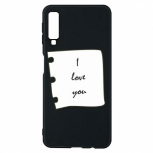 Samsung A7 2018 Case I love you