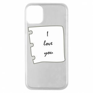 iPhone 11 Pro Case I love you