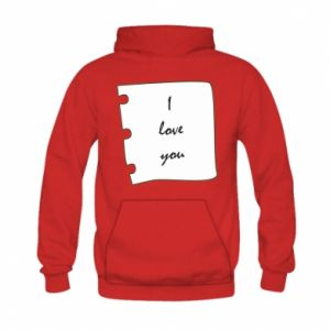 Kid's hoodie I love you