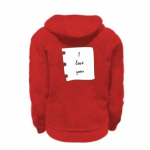 Kid's zipped hoodie % print% I love you