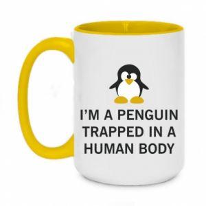 Two-toned mug 450ml I'm a penguin