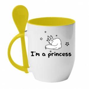 Kubek z ceramiczną łyżeczką I'm a princess