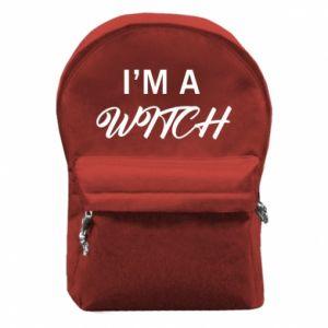 Plecak z przednią kieszenią I'm a witch