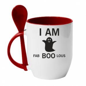 Mug with ceramic spoon I'm bab BOO lous - PrintSalon