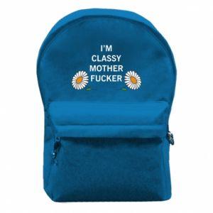 Plecak z przednią kieszenią I'm classy mother fucker