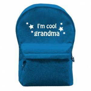 Plecak z przednią kieszenią I'm cool grandma