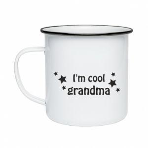 Kubek emaliowany I'm cool grandma