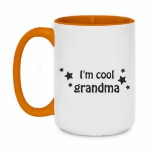 Two-toned mug 450ml I'm cool grandma