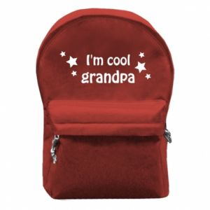 Backpack with front pocket I'm cool grandpa